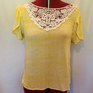 Cato lace front blouse